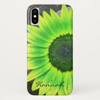 Limones grünes und gelbes Sonnenblume iPhone X Hülle