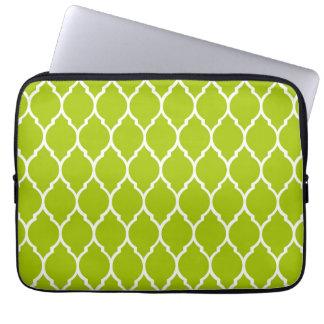 Limones modernes Quatrefoil Muster Laptop Sleeve