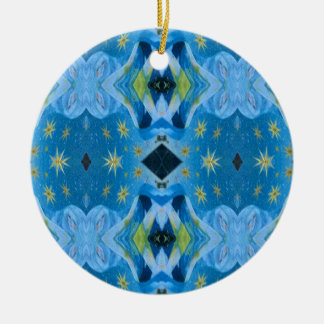 Limones Starry Muster der coolen modernen Blues Keramik Ornament
