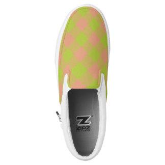 Limones und rosa checkered kariertes Slip-On sneaker