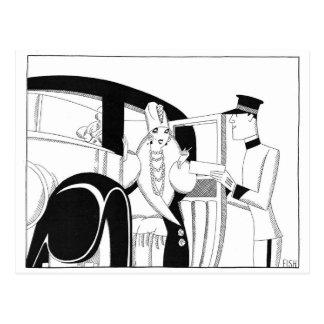 Limousine durch Fische Anne Harriet Postkarte