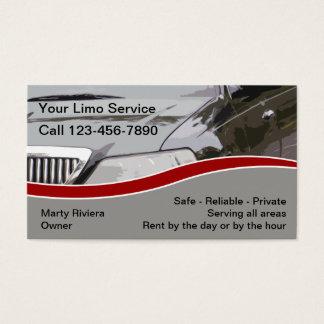 Limousinen-Dienstleistungsunternehmen-Karten Visitenkarte