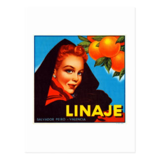 Linaje Valencia-Orangen Postkarte