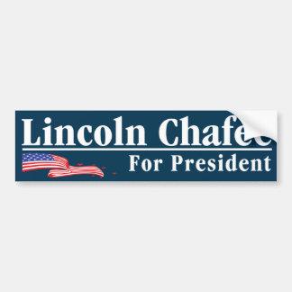 """""""Lincoln Chafee für Präsidenten Autoaufkleber"""