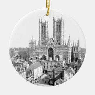 Lincoln, England Rundes Keramik Ornament