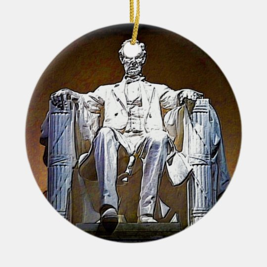 Lincoln II Keramik Ornament