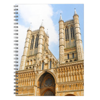 Lincoln-Kathedrale in England Spiral Notizblock