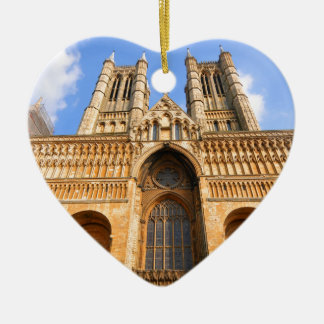 Lincoln-Kathedrale Keramik Herz-Ornament