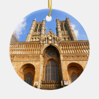 Lincoln-Kathedrale Rundes Keramik Ornament