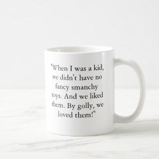 """Lincoln-Klotz, """", als ich ein Kind war, hatten wir Kaffeetasse"""