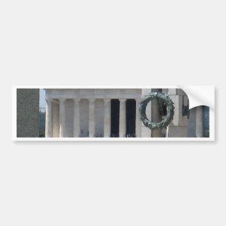 Lincoln Memorial Fotoansicht von WWII memeorial Autoaufkleber