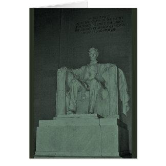 Lincoln Memorial (Penny-Grün) Karte