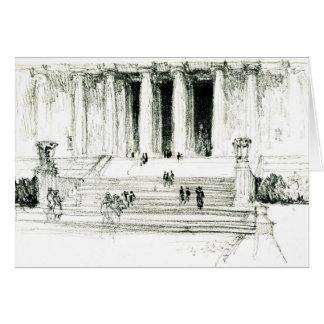 Lincoln Memorial Schritte 1922 Mitteilungskarte