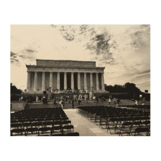Lincoln-Monument Holzdruck