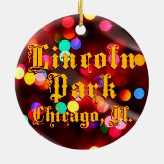 Lincoln Park Chicago beleuchtet Kreis-Verzierung Rundes Keramik Ornament