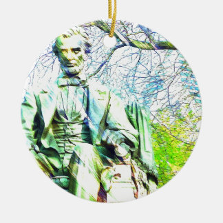 Lincoln Rundes Keramik Ornament