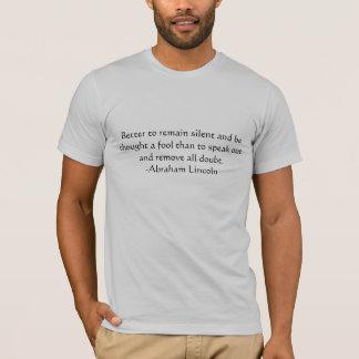 Lincoln-Zitat T-Shirt