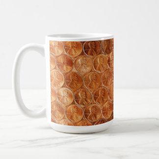 Lincolnpenny/-pennies verkupfern US-Münze, Penny 2 Kaffeetasse