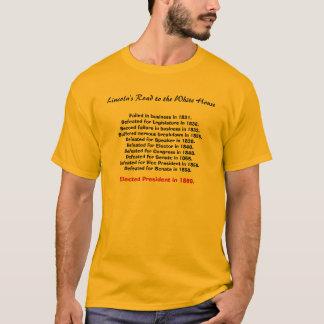 Lincolns Straße zum Weißen Haus, versagt in den T-Shirt
