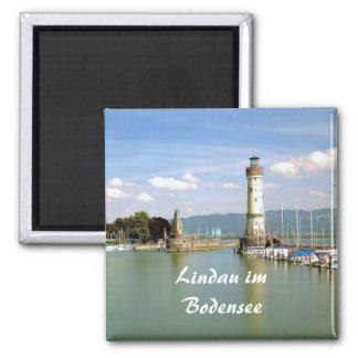 Lindau im Bodensee - Andenken-Magnet Quadratischer Magnet