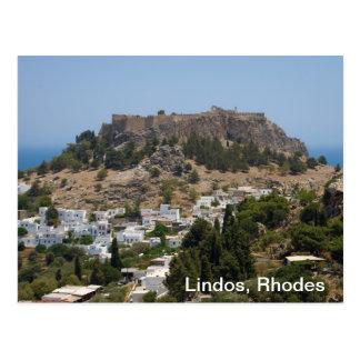 Lindos, Rhodos Postkarte