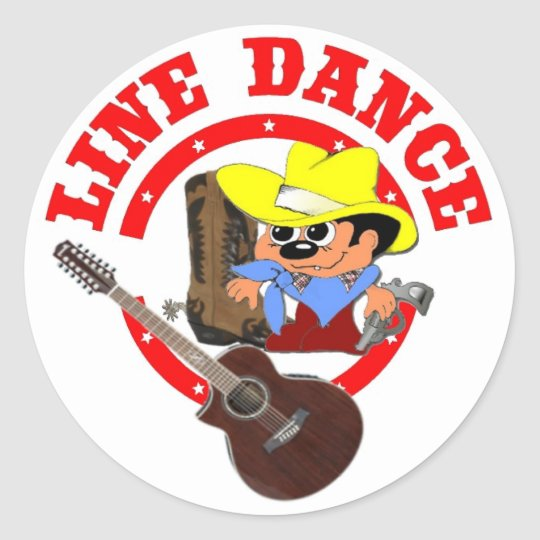 Line Dance Aufkleber BILLI klein