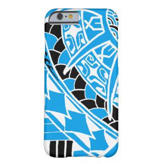 LineA blaue polynesische Tätowierung Barely There iPhone 6 Hülle
