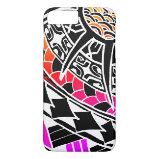 LineA weiße polynesische Tätowierung iPhone 8 Plus/7 Plus Hülle