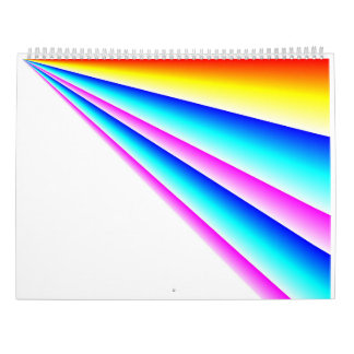 Lineare Regenbogen 2017 Kalender