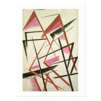 Linearer Bau, c.1921 (Gouache auf Papier) Postkarte