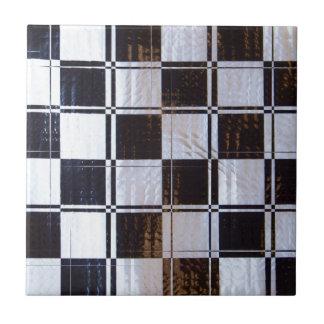 Lineares Schachbrett-Muster Keramikfliese