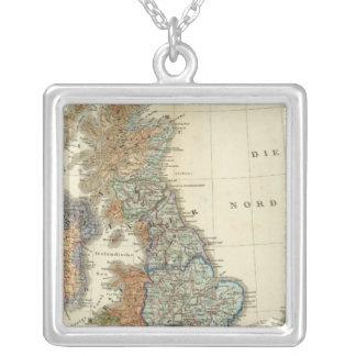 Linguistische Karte der britischen Inseln Versilberte Kette