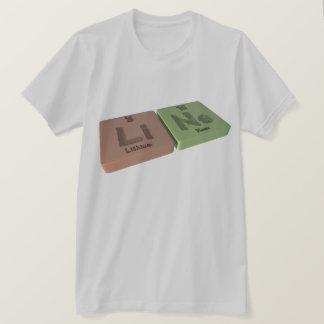 Linie als Li-Lithium und Ne-Neon T-Shirt