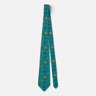 Linie Atomstruktur Krawatte