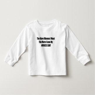 Linie des Muskelautos drei Kleinkind T-shirt