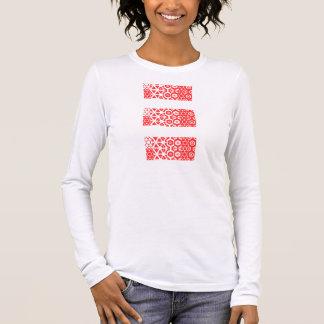 Linie Entwurf Langarm T-Shirt