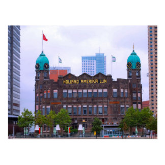 Linie Gebäude, Rotterdam Hollands Amerika Postkarte
