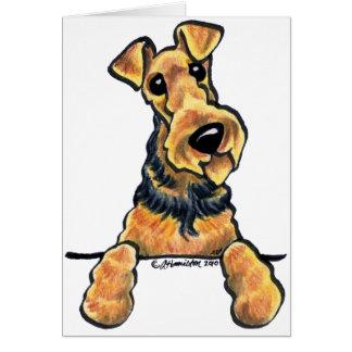 Linie Kunst Airedales Terrier Karte