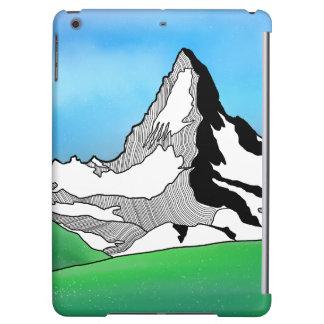 Linie Kunst-Aquarell Matterhorns die Schweiz