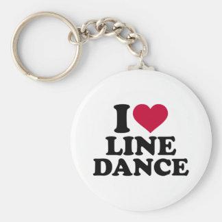 Linie Tanz der Liebe I Standard Runder Schlüsselanhänger