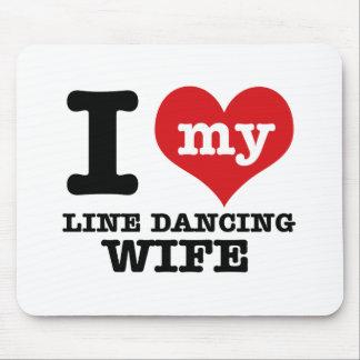 Linie Tanzen Ehefrau Mousepads