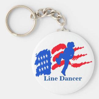 Linie Tänzer mit Schlüsselanhänger