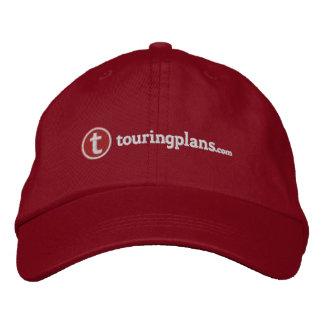 Linien Kappe - weißes Nähen Baseballcap