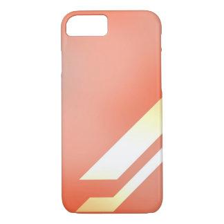 Linien und Farben orange iPhone 8/7 Hülle