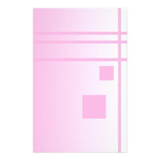 Linien und Quadrate. Rosa abstrakter Entwurf 14 X 21,6 Cm Flyer