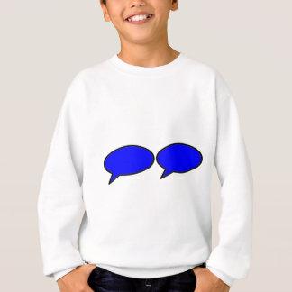 Links Blau der Wort-Blasen-2 die MUSEUM Zazzle Sweatshirt