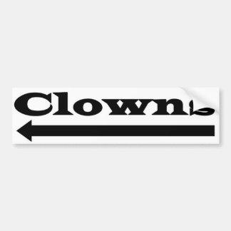 Links Clowns Autoaufkleber