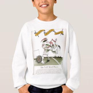 links Flügel des Fußballs, rote weiße Ausrüstung Sweatshirt