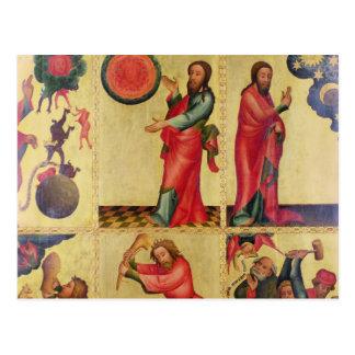 Links Flügel des hohen Altars von St Peter Postkarte