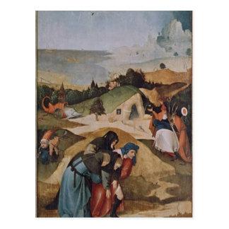 Links Flügel des Triptychons der Versuchung von Postkarte